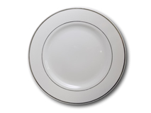 """image of Silver Band Plate 10.5"""""""