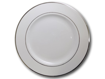 image of Silver Band Plate 12""