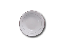 """image of Silver Band Dessert Bowl 6"""""""