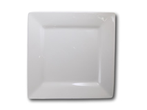 """image of Square White Plate 10"""""""
