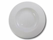 image of White Pasta Bowl Wide Rim