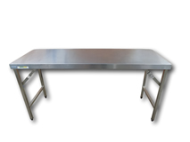 image of 1800mm Stainless Steel Prep. Table. Folding Legs