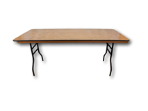 "image of 6' x 2'6"" Trestle Table"