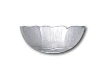 "image of Glass Salad Bowl. Fleur. 9"" (23cm)"