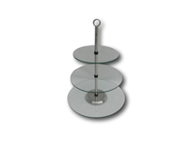image of 3 Tier Glass Cup Cake Stand 20 / 25 / 30 cm