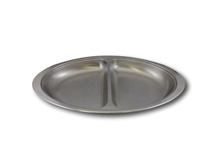 "image of Stainless Steel Divided Service Dish 20"" (51cm)"