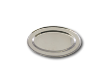 "image of Stainless Steel Oval Service Flat 12"" (30cm)"