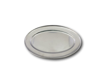 "image of Stainless Steel Oval Service Flat 16"" (40cm)"