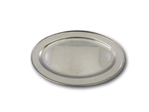 "image of Stainless Steel Oval Service Flat 18"" (46cm)"