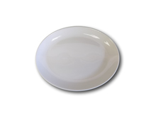"image of White China Oval Serving Flat 13"" (33cm)"