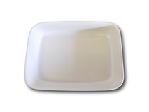 "image of White China Rectangular Serving Dish 11""x8"" (28x20cm)"